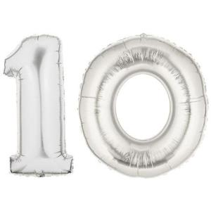 SilverNumber10Balloon